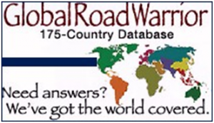 logo with maps for global road warrior database